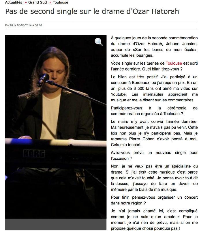 La Dépêche du Midi - 5 mars 2014