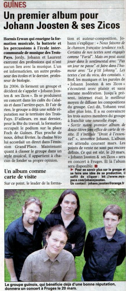 La Voix du Nord 19 février 2010