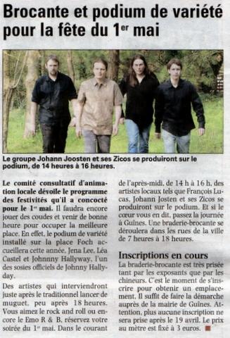 La Voix du Nord 29 mars 2010