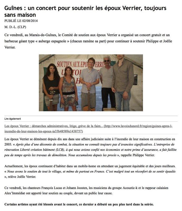 La Voix du Nord - 2 août 2014