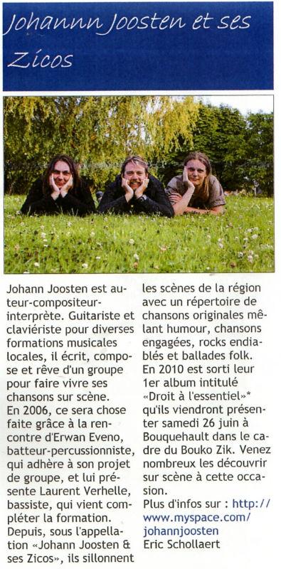 Journal de Bouquehault 3ème trimestre